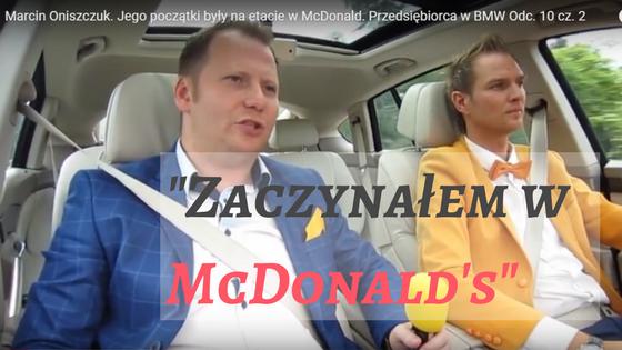 -Zaczynałem w McDonald's-