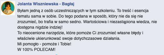 opinia Jolanta Wiszniewska
