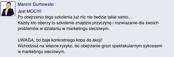 opinia Marcin Gurtowski
