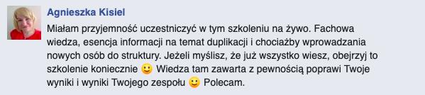 opinia Agnieszka Kisiel