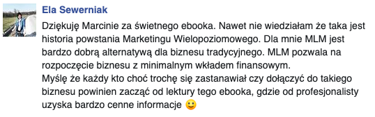 opinia Elżbieta Sewerniak